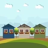 Huizen voor Huur/Verkoop Concept 6 van onroerende goederen royalty-vrije illustratie
