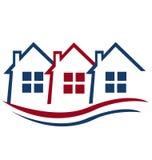 Huizen voor Real Estate Stock Afbeeldingen