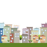 Huizen voor Verkoop/Huur Concept 6 van onroerende goederen stock illustratie
