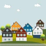 Huizen voor Verkoop/Huur De huizen van onroerende goederen?, Vlakten voor verkoop of voor huur Stock Afbeeldingen