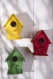 Huizen voor vogels Stock Fotografie