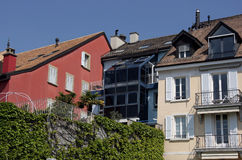 Huizen in Zwitserland Stock Afbeeldingen