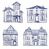 Huizenkrabbels Royalty-vrije Stock Afbeelding