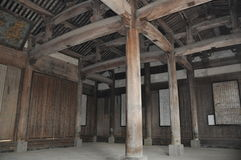 Huizhou ancient residential details: Ancestral hall Stock Image