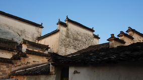 Huizhou architecture. Chinese Roof, Hong village, Ancient Chinese Roof Stock Photography