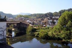 Huizhou-Architektur, traditionelles China Lizenzfreies Stockbild