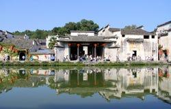 Huizhou-Architektur, traditionelles China Stockbild