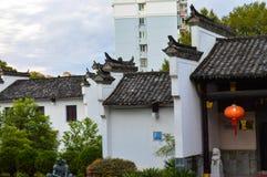 Huizhou arkitektur lokaliseras i Jingdezhen, Kina Arkivfoton