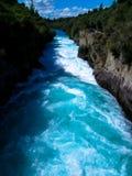 Huka易爆的水落,新西兰 图库摄影