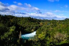 Huka падает на реку Waikato Стоковые Изображения RF