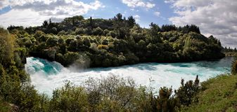 Huka baja cerca de Taupo Fotos de archivo libres de regalías