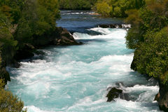 Huka cade in Nuova Zelanda Immagini Stock
