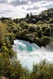 Huka cai perto de Taupo Fotografia de Stock Royalty Free