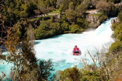 Huka falls Lake Taupo New Zealand Royalty Free Stock Photo