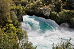 Huka Falls near Taupo Stock Photography