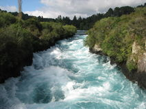 Huka Falls, New Zealand. This is a photograph of the Huka Falls, a popular scenic spot north of Taupo, New Zealand Royalty Free Stock Photos