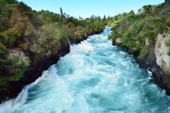 Huka Falls New Zealand Royalty Free Stock Photo