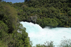 Huka Falls, New Zealand. The mighty Huka Falls at Taupo in the North Island of New Zealand Royalty Free Stock Image