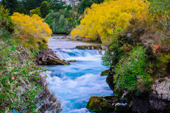 Huka falls, New Zealand, Waikato. stock image