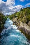 Huka falls, Taupo, New Zealand Royalty Free Stock Photography