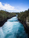 Huka Falls @ Taupo, New Zealand. Spring water rushing through the famous Huka falls of New Zealand Stock Images