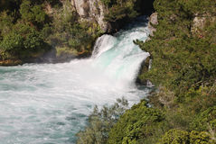 Huka Falls, Waikato, New Zealand. The Huka Falls, Waikato, New Zealand. NB: Some loss of detail at the base of the falls Royalty Free Stock Photo