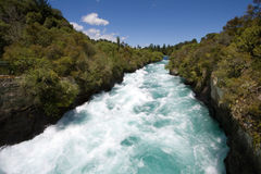 Huka Falls, Waikato River, New Zealand Stock Photo