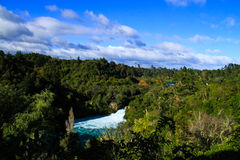 Huka Falls on Waikato River. New Zealand Royalty Free Stock Images