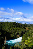 Huka Falls on Waikato River. New Zealand Royalty Free Stock Image