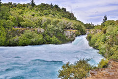 Huka Falls on the Waikato River, New Zealand. Royalty Free Stock Images