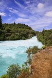 Huka Falls on the Waikato River, New Zealand. Stock Image