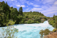 Huka Falls on the Waikato River, New Zealand. Royalty Free Stock Photography