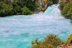 Huka Falls on the Waikato River, New Zealand. Stock Photo