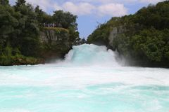 Huka Falls - Waterfall near Taupo, New Zealand royalty free stock photos