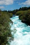 Huka Falls whitewater Stock Images