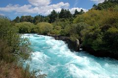 Huka Falls Whitewater Royalty Free Stock Photo