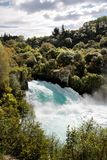 Huka fällt nahe Taupo Lizenzfreie Stockfotografie