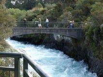 Huka nedgångar, norr ö, Taupo, Nya Zeeland royaltyfria bilder
