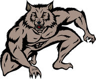 huka sig ned werewolf Royaltyfri Foto