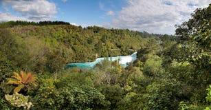 Huka tombe près de Taupo Photo stock