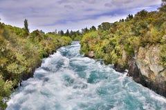 Huka tombe sur la rivière de Waikato, l'île du nord de Taupo, NZ images libres de droits