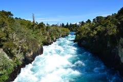 Huke nedgångar - Taupo Royaltyfri Fotografi