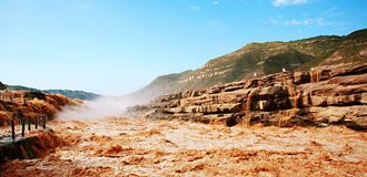 Free Hukou Falls Of Yellow River Stock Photo - 116858730