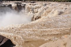 Hukou falls in yellow river Royalty Free Stock Image