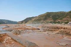 Hukou nedgångar av Yellow River Royaltyfri Fotografi