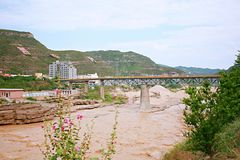 Hukou nedgångar av Yellow River Arkivfoton
