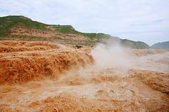 Hukou nedgångar av Yellow River Arkivbild