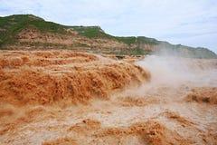 Hukou nedgångar av Yellow River Royaltyfria Foton