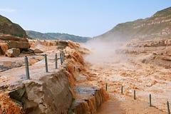 Hukou nedgångar av Yellow River Royaltyfria Bilder