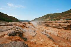 Hukou nedgångar av Yellow River Royaltyfri Bild